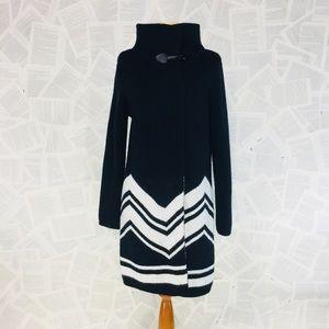 Kathrine Barclay Long Knit Cardigan Black toggle